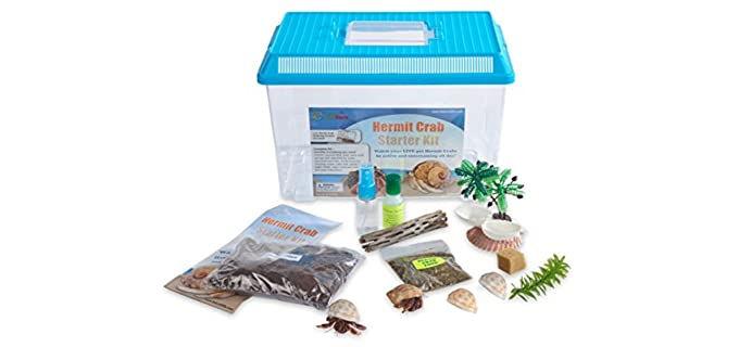 Nature Gift Store Hermit Crab Starter Kit - Habitat for Hermit Crabs