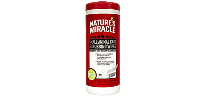 Natures Miracle Small Animal - Scrubbing Wipe Hamster Cage Cleaner