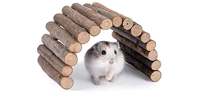 Niteangel Wooden Ladder Bridge - Hamster Toy
