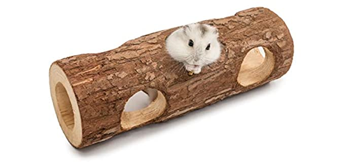 Niteangel Natural Wooden Hamster Mouse Tunnel Tube Toy Forest Hollow Tree Trunk - Toy for Your Hamster