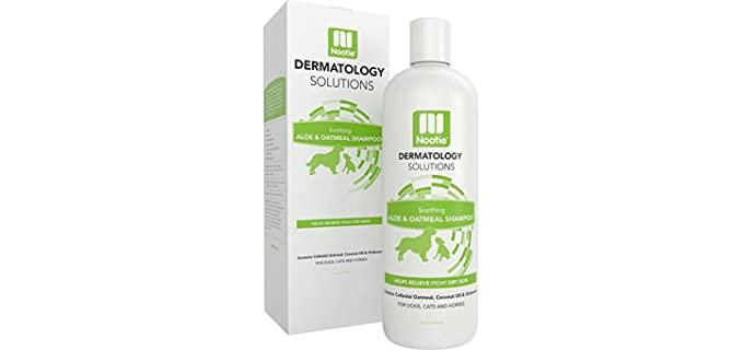 Nootie Dermatology Solutions Aloe and Oatmeal Shampoo - Horse shampoo