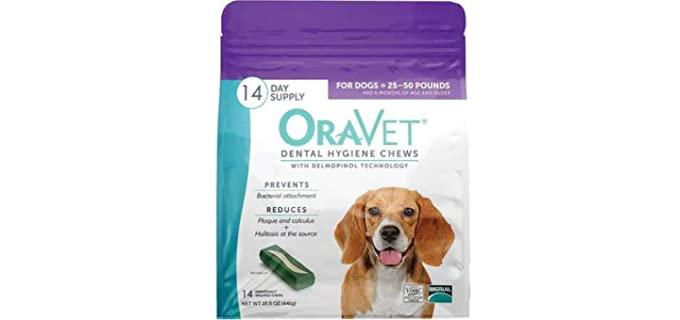 OraVet Dental Hygiene Dog Chews - Dog Teeth Cleaning Chews