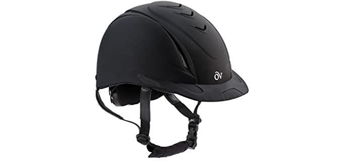Ovation Girls Schooler Deluxe Riding Helmet - Helmet for Horse Riders