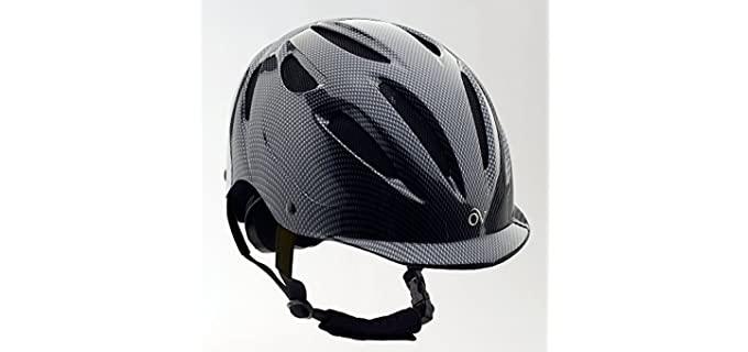 Ovation Women's Protégé Matte Riding Helmet - Helmet for Horse Riding