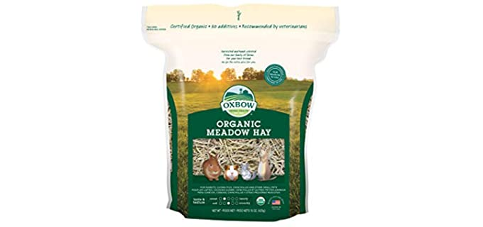 Oxbow Bene Terra Organic Meadow Hay - Healthy Hay for Rabbits