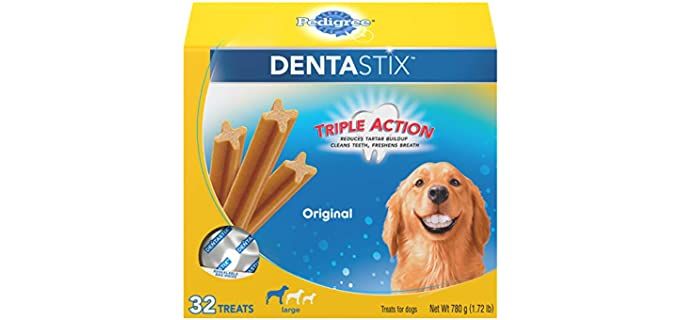 Pedigree DENTASTIX Triple-Action Large Dog Treats - Teeth Cleaning Chews for Dogs