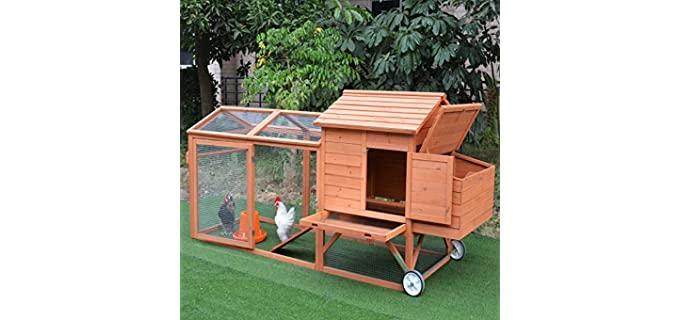 PawHut Wooden - Safe Chicken Coop