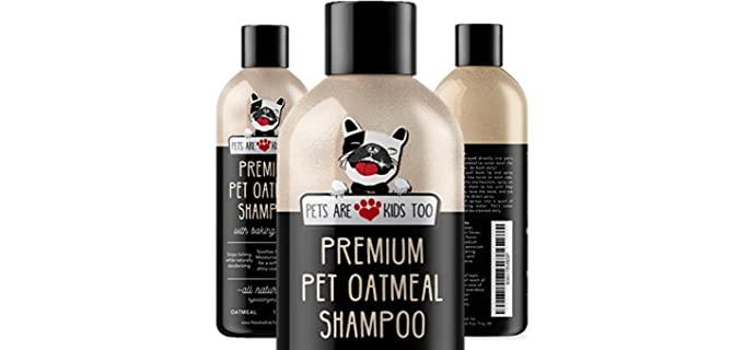 Pets Are Kids Too Premium Pet Oatmeal Shampoo - Fragrant Dog Shampoo