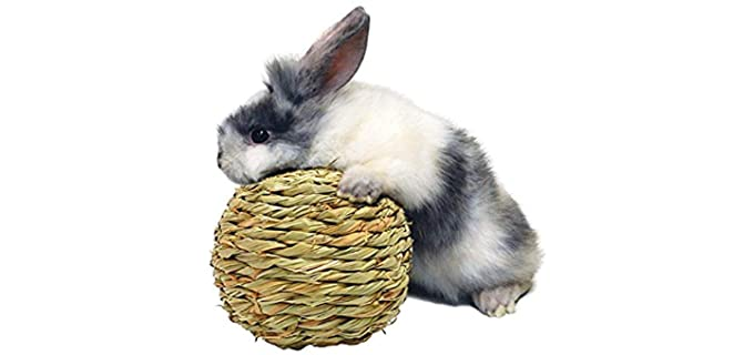 Peter's Woven Grass Play Ball - Rabbit Toy