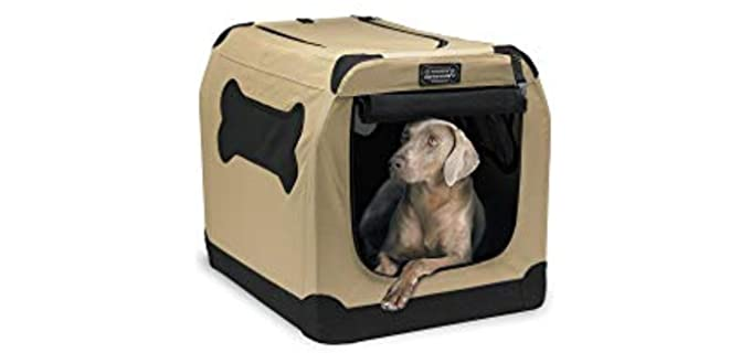 PetNation Port-A-Crate Indoor/Outdoor Pet Home - Crate for Puppies