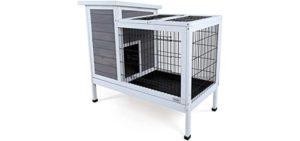 Petsfit Rabbit Bunny Hutch Wood - IndoorRabbit's Cage