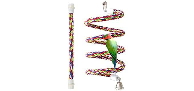 Petsvv Rope Bungee Bird Toy - Bird Toy