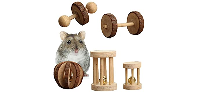 Pevor Pack of 5 Hamster Chew Toys - Toy for Hamsters