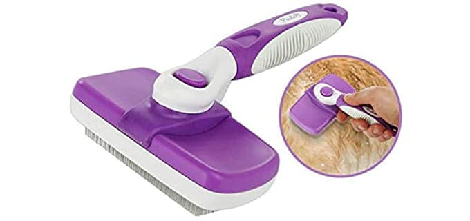 Poodle Pet Self-Cleaning Slicker Brush - Brush for Rabbits