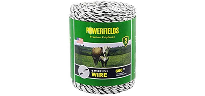 Powerfields EW936-660 Polywire Fence - Electric Fencing for Horses