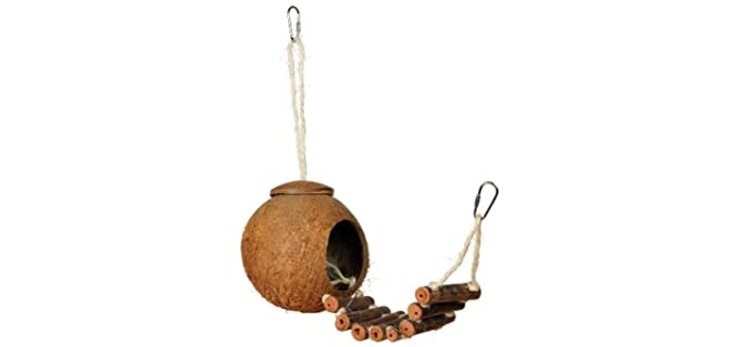 Prevue Hendryx Naturals Coco Hideaway - Toy for Your Bird