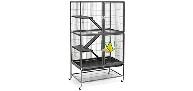 Prevue Hendryx Black Feisty Ferret Cage - Rat Cage
