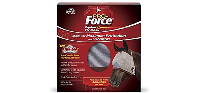 Manna Pro 667788 Pro-Force Fly Mask Standard - Horse Fly Mask