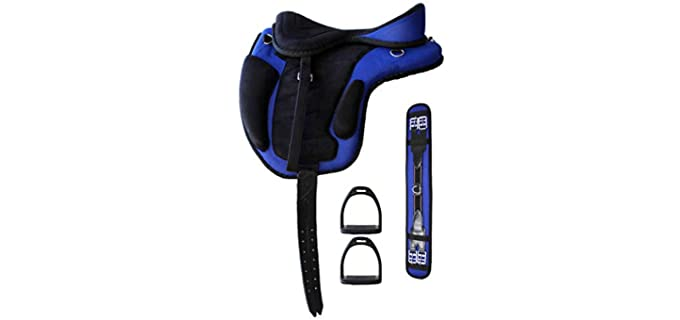 Professional Equine English Horse Saddle - Medium Adult Hosre Saddle