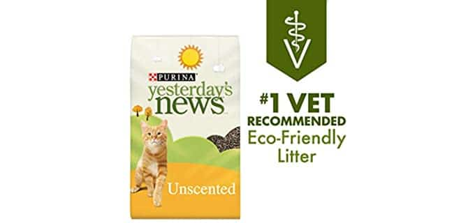 Purina Yesterday's News Non-Clumping Paper Cat Litter - Guinea Pig's Bedding