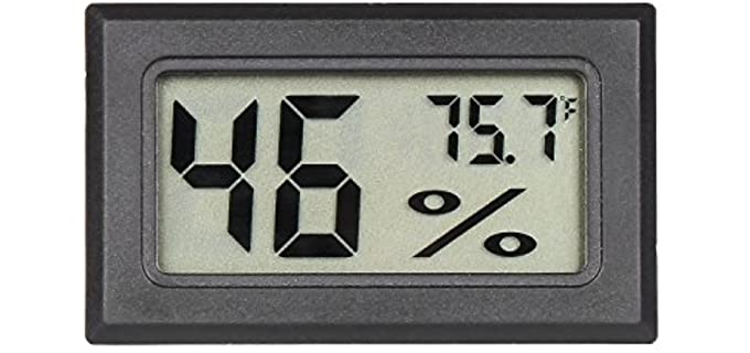 Qooltek Mini Digital Thermo-Hygrometer - Thermometer for Reptiles