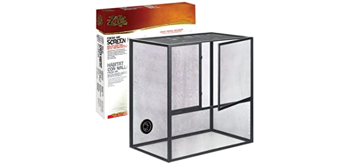 Zilla Fresh Air Screen Habitat for Reptiles - Cage for Chameleons