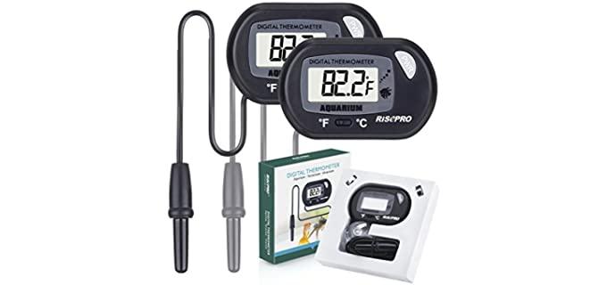RISEPRO Aquarium Thermometer - Reptile Thermometer