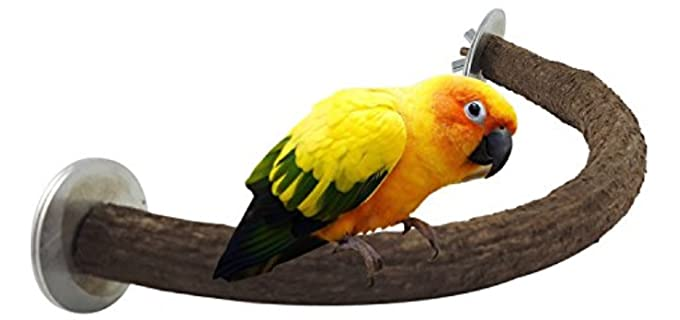 RYPET Parrot Natural Perch - Bird Toy