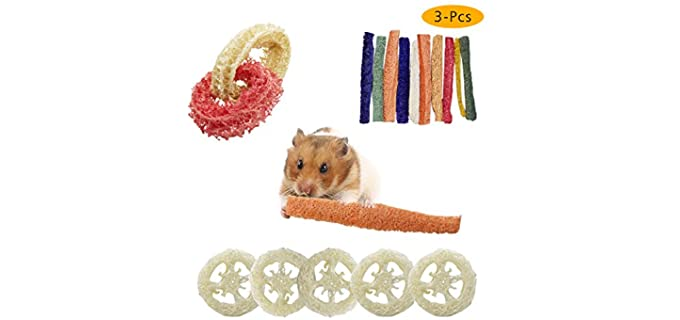Rieibi Small Animal Activity Toys - Chinchilla Toy