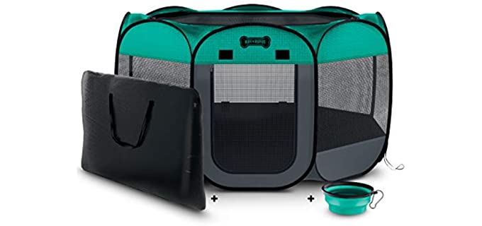 Ruff N' Ruffus Portable Pet Playpen - Toy for a Chinchilla