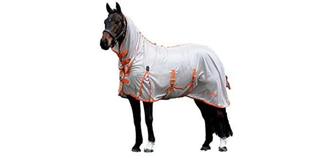 Saxon Mesh Sheet with Gusset Belly Wrap Combo Neck - Horse's Fly Sheet