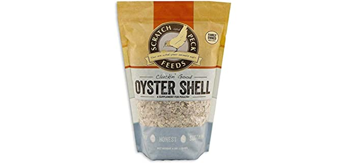 Scratch & Peck Feeds Cluckin' Good - Oyster Shell Supplement for Chickens and Ducks