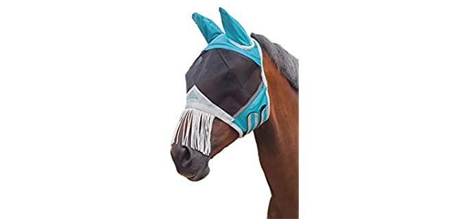 Shires Fine Mesh Fly Mask with Nose Fringe - Horse's Fly Mask