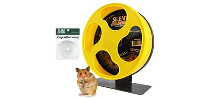 """Exotic Nutrition Silent Runner 9"""" Exercise Wheel - Hamster Wheel"""