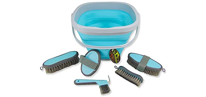 Southwestern Equine Collapsible Grooming Kit - Horse Grooming Kits