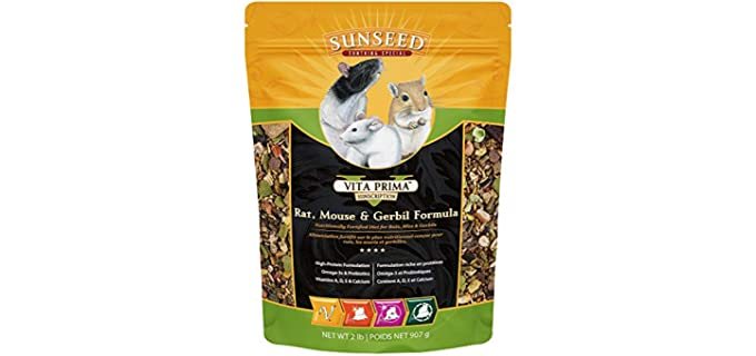 Sunseed Vita Prima Sunscription Rat Formula - Rat Food