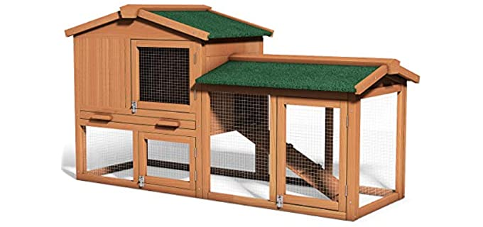 Tangkula 58 Inch - Rabbit Hutch for Outdoor Use