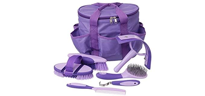 Tough-1 Horse Brush Grooming Kit - Grooming Kits for Horses