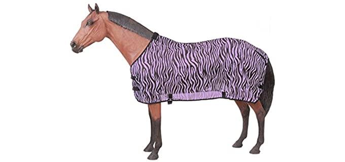 Tough-1 Zebra Mesh Fly Sheet 78 Purple Zebra - Fly Sheet for Horses