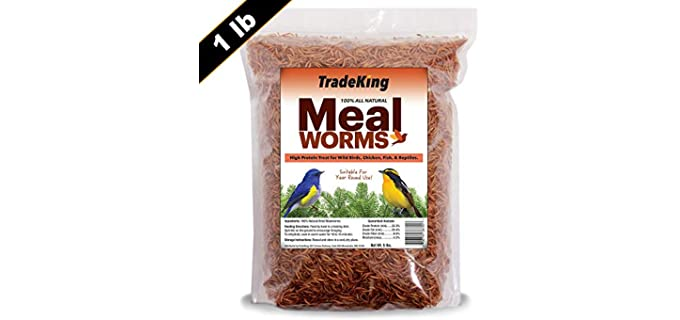 TradeKing Dried Mealworms - Food for Hermit Crabs
