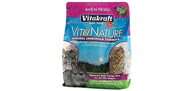 Vitakraft VitaNature Natural Chinchilla Formula - Food for Chinchillas