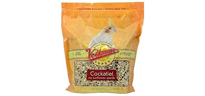 Volkman Avian Science Super Cockatiel - No Sunflower Bird Food