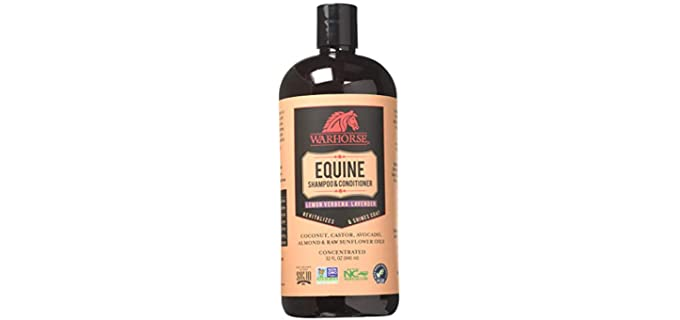 Warhorse Solutions Natural Equine Shampoo and Conditioner - Horse's Shampoo