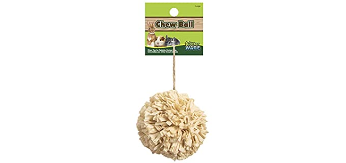 Ware Manufacturing Natural Corn Chew Ball - Guinea Pig Toy