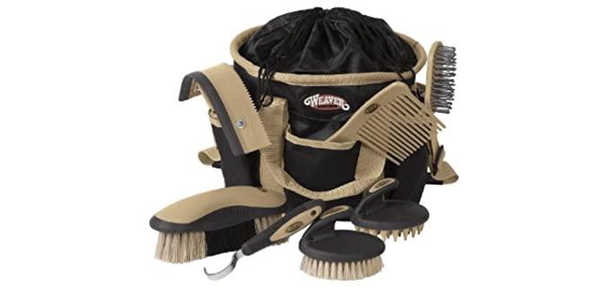 Weave Leather Horse Grooming Kit - Horse's Grooming Kit