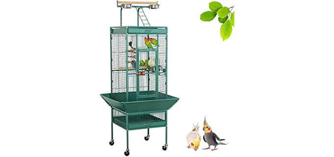Yaheetech 61-inch Bird Cage for Small Parakeet - Parakeet Cage