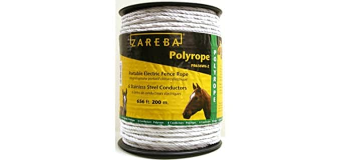 "Zareba PR656W6-Z Polyrope Portable Electric Fence - Horse""s Electric Fences"