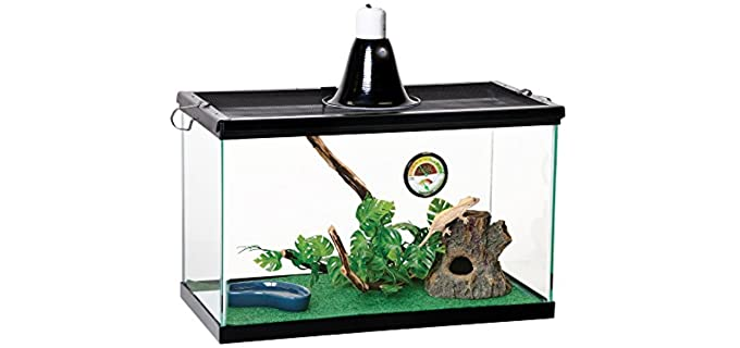 Zilla Reptile Starter Kit 10 with Light and Heat - Cage for Chameleons
