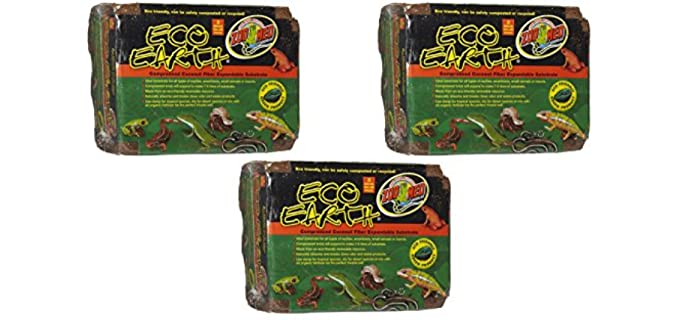 Zoo Med Eco Earth Compressed Coconut Fiber Substrate - Hermit Crab's Substrate