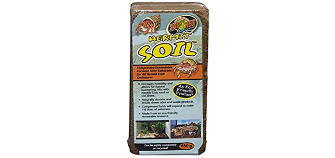 Zoo Med Hermit Soil Coconut Fiber Brick - Substrate For Hermit Crabs